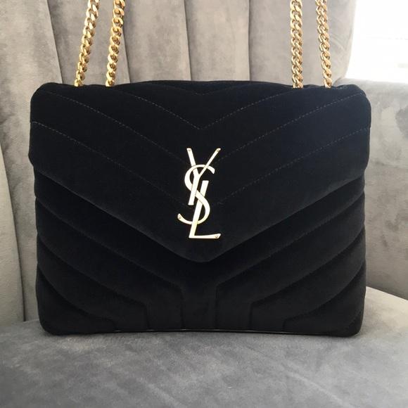759bdcf6633 Yves Saint Laurent Bags | Ysl Small Loulou In Black Velvet | Poshmark